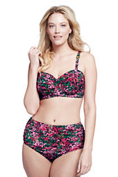 Women's Plus Size Seaside Gardens Watercolor Floral Balconette Bikini Top