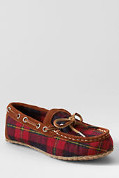 Boys' Plaid Moc Slippers