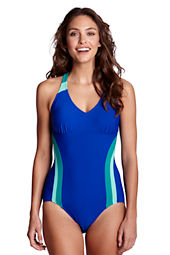 Women's AquaFitness FlutterKick V-neck One piece Swimsuit