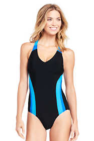 Women's Mastectomy V-neck One Piece Swimsuit