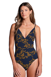Shape & Enhance Badeanzug mit gedrehten Trägern für Damen