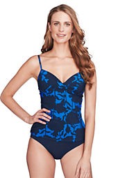 Women's Shape & Enhance Floral Underwire Tankini Top