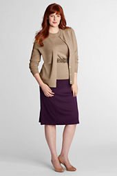 Women's Plus Size Drapey Ponté Kick Flounce Skirt