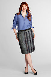 Women's Plus Size Tweed Pencil Skirt