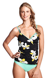 Women's SwimMates Orchid Floral Surplice Cover-up Swim Cami