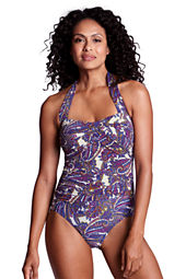 Women's Paisley Halter One Piece Slender Suit