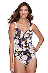 Women's Floral Keyhole One Piece Slender Suit
