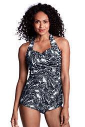 Women's Paisley Tunic One Piece Slender Suit