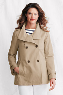 Women's Waterproof Cropped Trench Coat