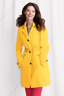Women's Modern Rain Swing Coat with removable liner