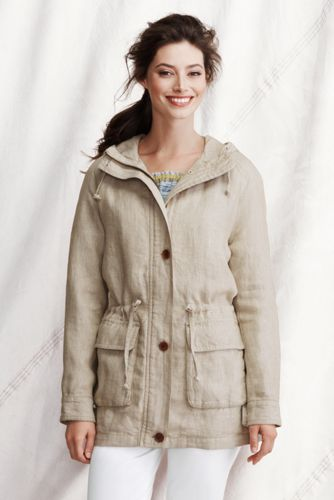 Women's Plus Linen Parka