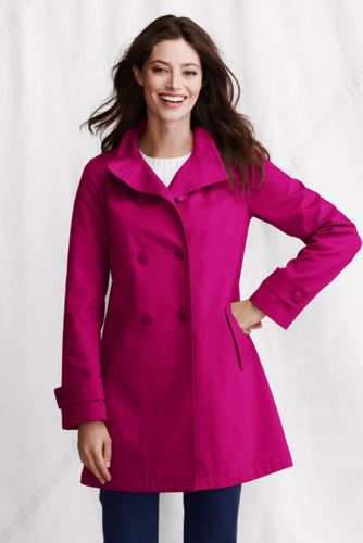 Women's Regular Double-Breasted Cotton Piqué Coat