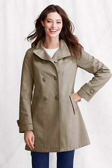 Women's Double-Breasted Cotton Piqué Coat