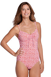 Women's Beach Living Batik Scoopneck One Piece Swimsuit