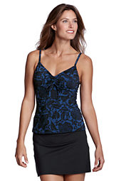 Women's Beach Living Bardot Floral Adjustable Scoopneck Tankini Top