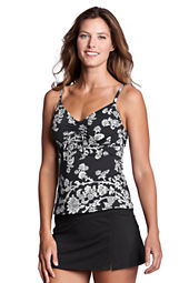 Women's Beach Living Floral Paisley Adjustable Scoopneck Tankini Top