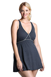 Women's Plus Size Seaside Resort Dot Swimdress
