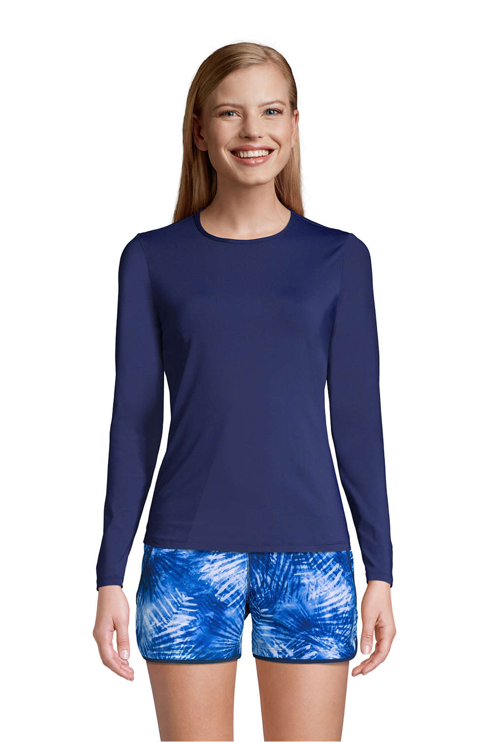 a5d506c0fbfb8 Women s Swim Tee Rash Guard from Lands  End
