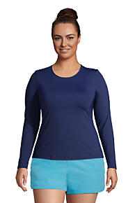 cad266c1c1783 Plus Size Rash Guards & Plus Size Swim Shirts | Lands' End