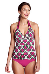 Women's Beach Living Deco V-neck Tankini Top