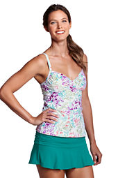 Women's Beach Living Island Floral Shirred Tankini Top