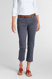 Women's Print Sateen Skinny Crop Pants