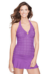 Women's Isla Vista Lace V-neck Tankini Top