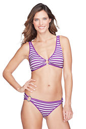Women's Isla Vista Stripe V-neck Bikini Top