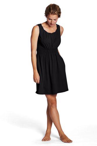 Women's Regular Plain Sleeveless Cover Up Beach Dress