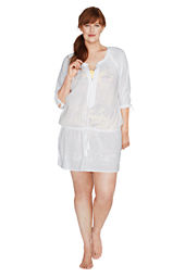 Women's Peasant Drop Waist Cover-up