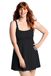 Women's Plus Size Beach Living Scoopneck Swimdress