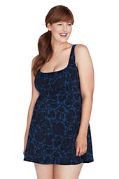 Women's Plus Size Beach Living Floral Bardot Scoopneck Swimdress