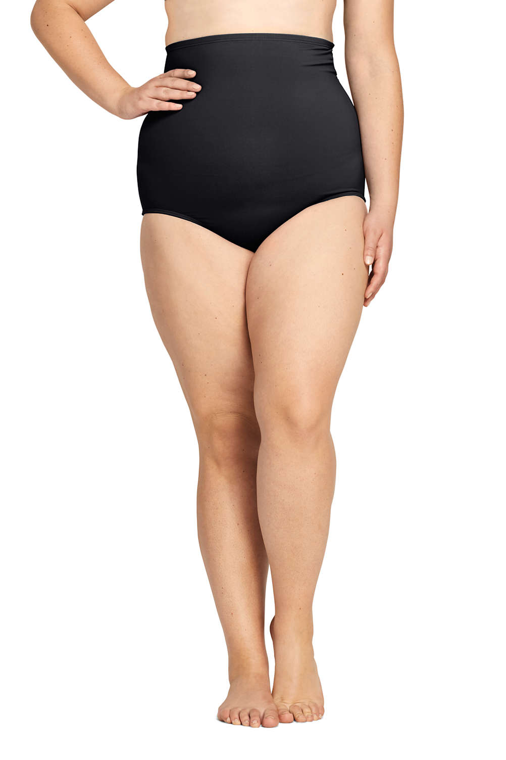 577b2e25c14 Women's Plus Size Ultra High Waisted Tummy Control Bikini Bottoms from  Lands' End