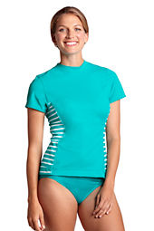 Women's AquaTerra Stripe Short Sleeve Rash Guard