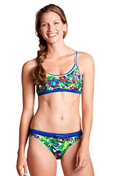 Women's AquaTerra Tropical Twist Back Bikini Top