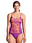 AquaTerra Tankini-Top mit gekreuzten Trägern und Tropical-Muster für Damen