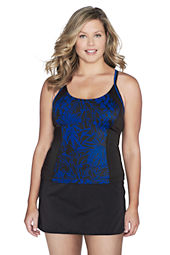 Women's AquaTerra Abstract Floral X-Back Tankini Top