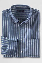 Men's Long Sleeve Stripe Supima Poplin Shirt