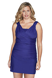 Women's Plus Size Slendersuit Separates Scoopneck Tankini Top