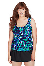 Women's Plus Size All-over-control Scoopneck Tankini Slendersuit Top