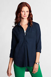 Women's Cotton Voile Drop Shoulder Tunic