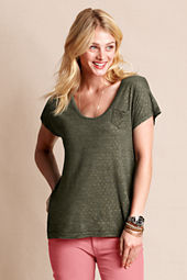 Women's Slouchy Printed Pocket Tee