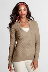 Women's Long Sleeve Meridian Lurex V-scoop Sweater