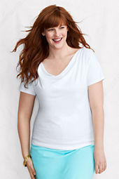 Women's Short Sleeve Solid Cotton Modal Drapeneck Top