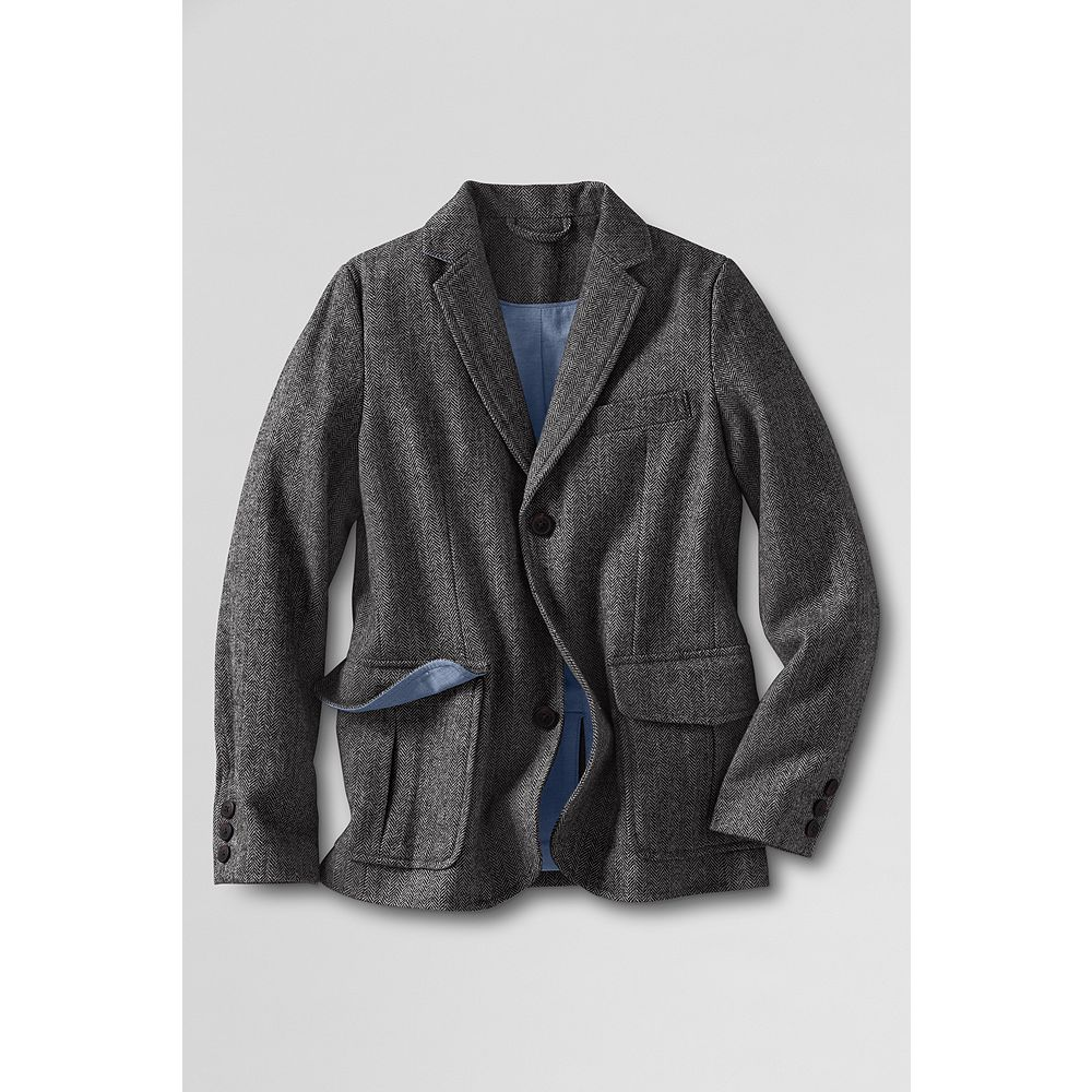 Lands' End Boys' Herringbone Blazer at Sears.com