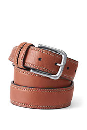 Men's Double Row Stitch Dress Belt