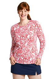 Women's Leaf Crewneck Swim Tee Cover-up