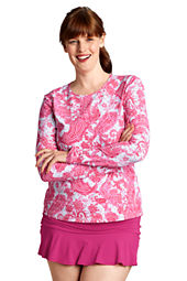 Women's Paisley Crewneck Swim Tee Cover-up
