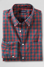Men's Long Sleeve Buttondown Multi Plaid Supima Poplin Shirt