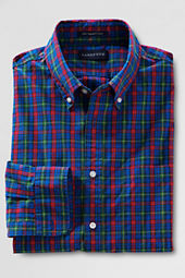 Men's Long Sleeve Plaid Supima Poplin Shirt